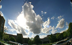 beautiful picture of the sky on campus